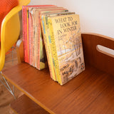Vintage 1960s Swedish Teak Magazine Newspaper Rack / Book Shelf