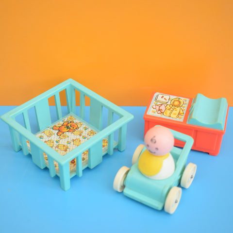 Vintage 1960s Fisher Price Nursery Set