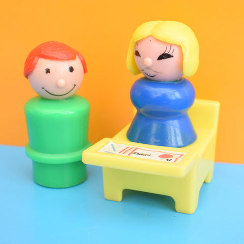 Vintage 1960s Fisher Price Style Couple / Desk