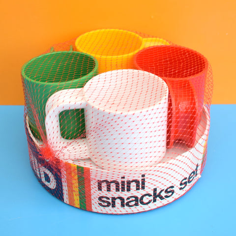 Vintage 1970s Ingrid Plastic Snack Set - Stacking