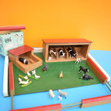 Vintage 1970s Farm Yard With Animals & Buildings - By Galt
