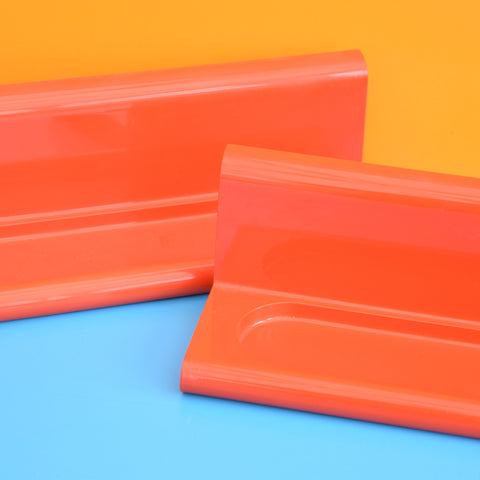 Vintage 1970s Single Crayonne By Habitat Plastic Shelf - Orange
