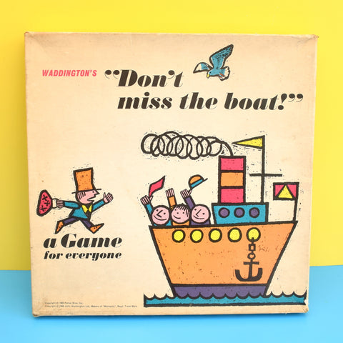 Vintage 1960s Board Game - Don't Miss The Boat - Waddingtons - Complete