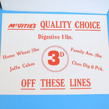Vintage 1960s Shop Advertising Biscuit Signs - Mc Vitie's