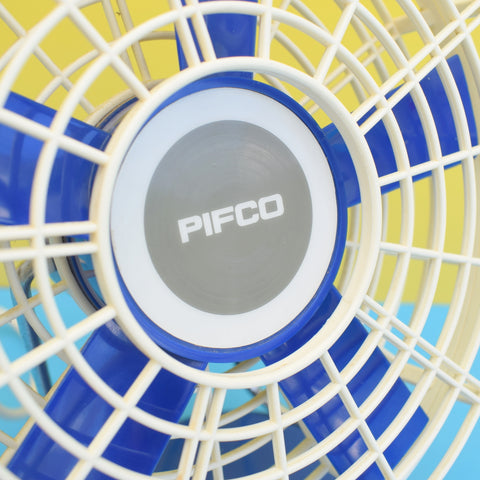 Vintage 1960s Pifco De-Luxe Electric Fan - Boxed, Working - Blue