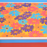 Vintage 1960s Folding Garden Table - Flower Power Design