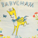 Vintage 1950s Cotton Tea Towel - Babycham / Cherapear