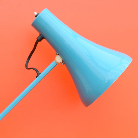 Vintage 1970s Anglepoise Desk Lamp - Herbert Terry - Turquoise Blue