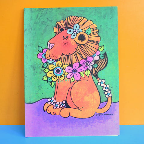 Vintage 1970s Large Greeting Card - by Gwyneth Mamlok - Leo