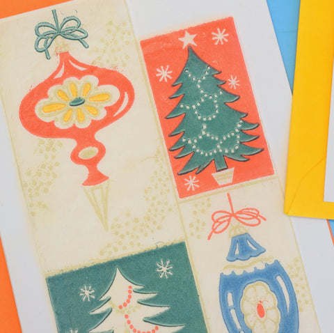 Vintage Handmade Kitsch Christmas Greeting Cards