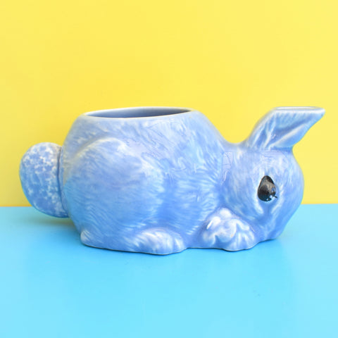 Vintage 1950s Small Kitsch Ceramic Bunny Rabbit Milk Jug - Lilac