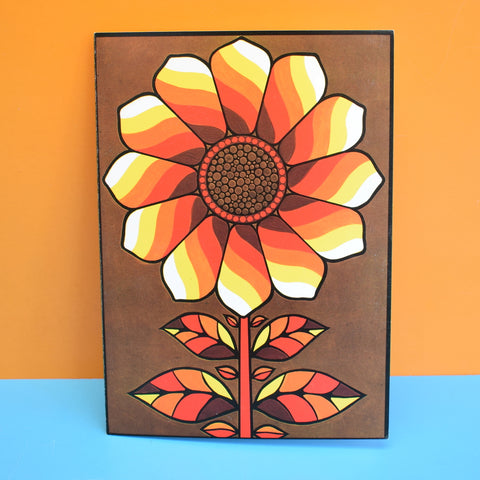 Vintage 1970s Greeting Card - by Paolo Romanelli - Roman Sunflower, Yellow