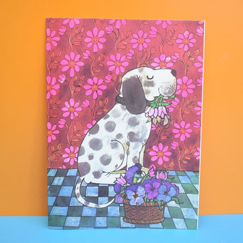 Vintage 1970s Large Greeting Card - by Gwyneth Mamlok - Dalmation