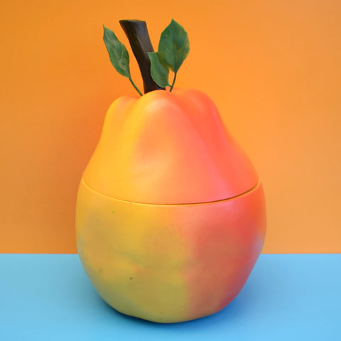 Vintage 1960s Plastic Pear Ice Bucket