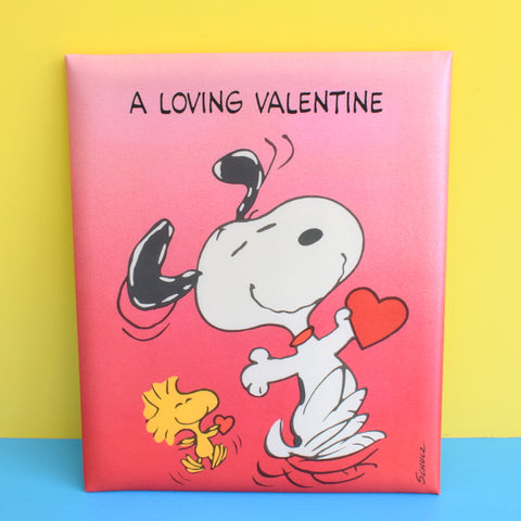 Vintage 1980s kitsch Snoopy Large Valentines Padded Card - Boxed & Unused