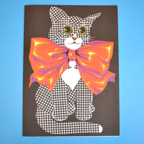 Vintage 1970s Large Greeting Card - by Romanelli - Cat