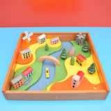 Vintage 1970s Boxed Kiddicraft English Village - amazing Wooden Toy