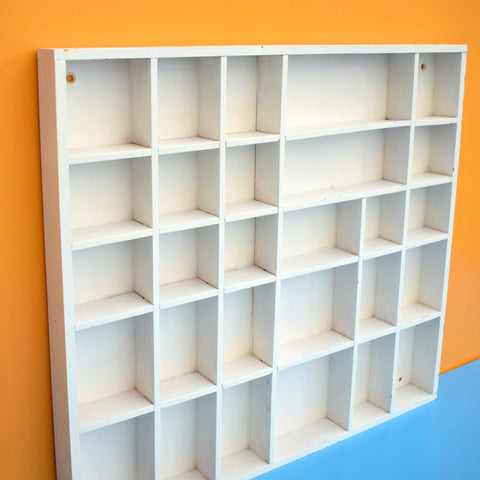 Vintage 1970s Wooden Display Unit - Miniature Collections - White