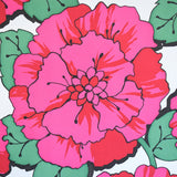 Vintage 1960s Stunning Wallpaper - Pink- Flower Power