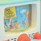 Vintage 1960s Fisher Price Peek A Boo Screen TV - Hey Diddle Diddle