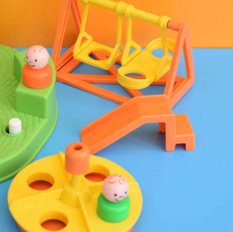 Vintage 1980s Fisher Price Playground & Figures