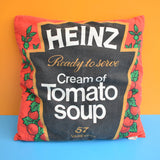 Vintage 1980s Heinz Tomato Soup Cushion - Kitsch