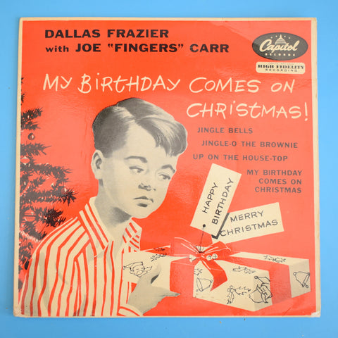 Vintage 1960s Record / Single - Vinyl - My Birthday Comes Christmas