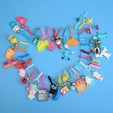 Vintage 1980s American Charm Keyring Full Chains - Blue