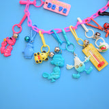 Vintage 1980s American Charm Keyring Full Chains - Pink