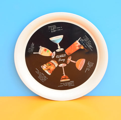 Vintage 1950s Round Tray - Cocktail Design