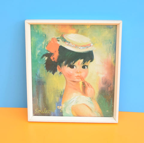 Vintage 1960s Soulet Emma & Bridget Little Girl Portrait Prints - Kitsch