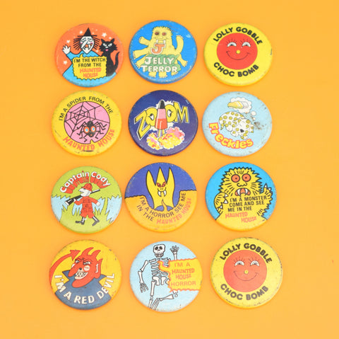 Vintage 1970s Metal Badges - Walls Ice Cream