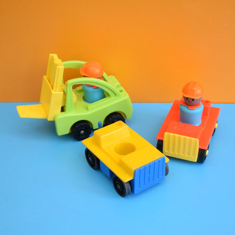 Vintage 1980s Fisher Price Workmen & Forklift