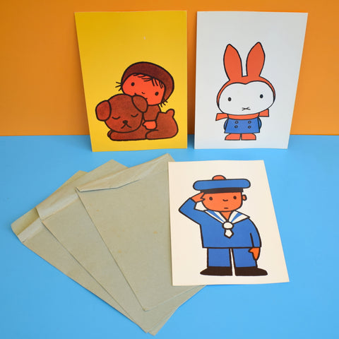 Vintage 1970s Dick Bruna / Miffy & Friends Large Postcards