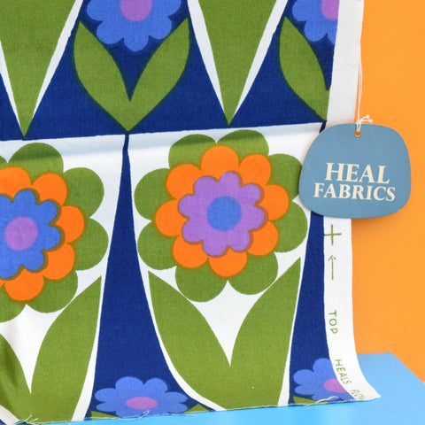 Vintage 1960s Fabric - Heals Flower Shop - Hans Jurgen