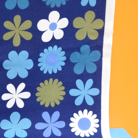 Vintage 1960s Fabric - Genia Sapper Heidi - Flower Power - Blue