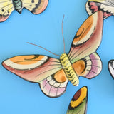 Vintage 1960s Ceramic, Butterfly Wall Decorations - Portugal