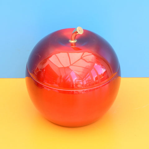 Vintage 1960s Annodised Apple Ice Bucket - Daydream , Red