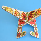 Vintage 1970s Recipe/ Tablet Stand -Taunton Vale - Flower Power