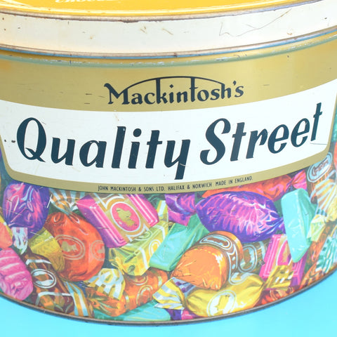 Vintage 1970s Large Quality Street Chocolate Sweet Tin