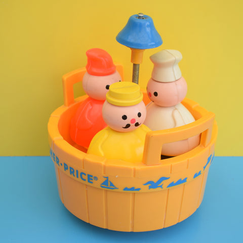 Vintage 1970s/80s Fisher Price Three Men In A Tub