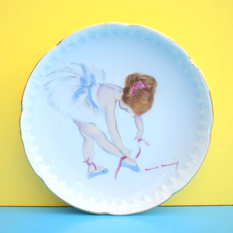 Vintage 1960s Brownie Downing Small Plate - Ballet Dancer - Kitsch