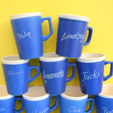 Vintage 1960s Devon Blue Name Mug - Choice Of Names