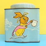 Vintage 1950s Mad Hatters Tea Party - Tetley Tea Tin - Unusual