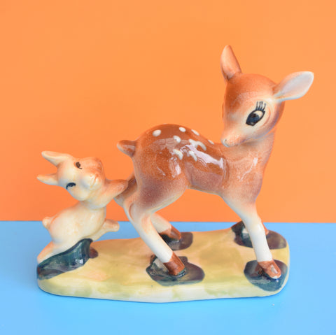 Vintage Bambi & Thumper Ornament by Capri