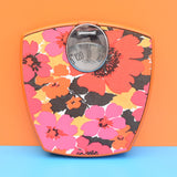 Vintage 1970s Kitsch Flower Power Scales - Orange & Pink