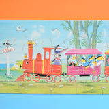 Vintage Wooden Large Jigsaw Puzzle / Picture - Patricia Barton - Train Design