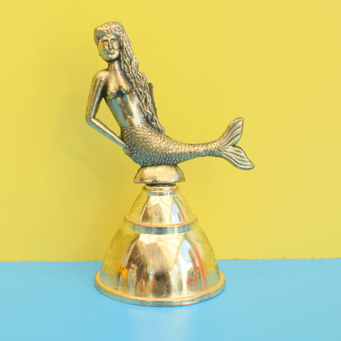Vintage 1970s Manly Mermaid Small Brass Bell