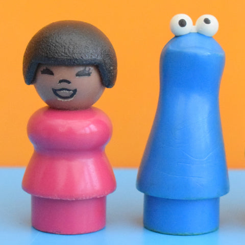 Vintage 1970s Fisher Price Sesame Street Little People