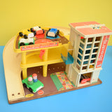 Vintage 1970s Fisher Price - Parking Ramp & Service Station - Classic Toy